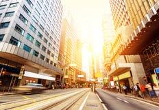 De straten van Hong Kong Stock Afbeeldingen