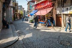 De straten van Istanboel in Turkije Stock Foto's