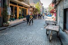 De straten van Istanboel in Turkije Royalty-vrije Stock Fotografie