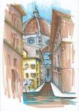 De straten van Italië Royalty-vrije Stock Afbeeldingen