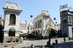 De straten van Jan Sharden en van Bambis Rigii, Tbilisi, Georgië Royalty-vrije Stock Foto's