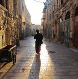 De straten van Jeruzalem Stock Afbeeldingen