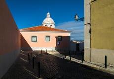 De straten van Lissabon stock afbeelding