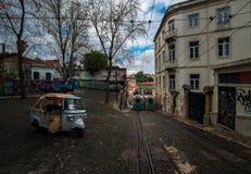 De straten van Lissabon portugal stock foto