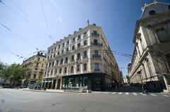 De straten van Lyon royalty-vrije stock afbeelding
