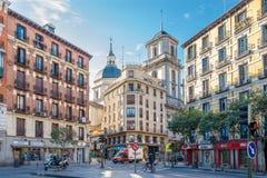 In de straten van Madrid stock fotografie