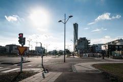 De Straten van de Malmöstad Royalty-vrije Stock Afbeeldingen