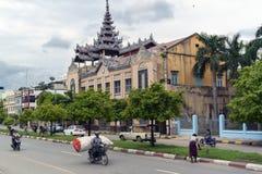 De Straten van Mandalay royalty-vrije stock fotografie