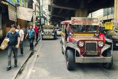 De straten van Manilla Royalty-vrije Stock Foto's