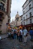 De straten van Montmarte dichtbij sacre-Coeur Royalty-vrije Stock Afbeeldingen