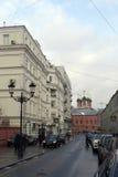 De straten van Moskou Stock Foto's