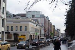 De straten van Moskou Stock Afbeelding