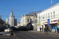 De straten van Moskou Royalty-vrije Stock Afbeeldingen