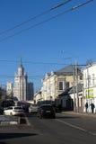 De straten van Moskou Royalty-vrije Stock Foto's