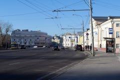 De straten van Moskou Stock Foto