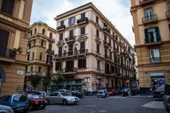 De straten van Napels en oude gebouwen, Italië Royalty-vrije Stock Afbeeldingen