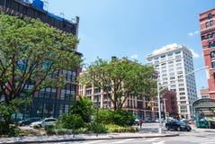De straten van New York Tribeca Stock Foto