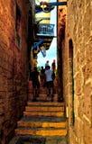 De straten van Oude Jaffa stock foto's