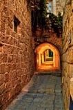 De straten van Oude Jaffa stock fotografie