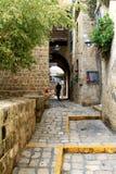 De straten van Oude Jaffa royalty-vrije stock afbeelding