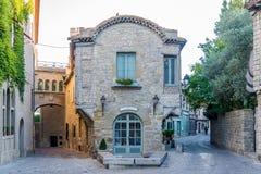 In de straten van Oude Stad van Carcassonne Stock Fotografie