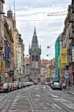 De straten van Praag Stock Afbeeldingen