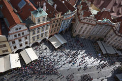 De straten van Praag Stock Foto