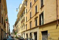 De straten van Rome Stock Afbeeldingen