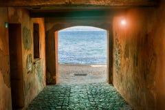 De straten van Saint Tropez Royalty-vrije Stock Foto
