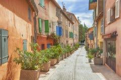 De straten van Saint Tropez Royalty-vrije Stock Afbeelding