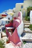 De straten van Santorini royalty-vrije stock fotografie