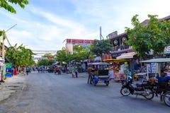 De straten van Siem oogsten, Kambodja royalty-vrije stock foto