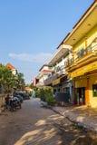 De straten van Siem oogsten, Kambodja royalty-vrije stock foto's