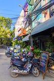 De straten van Siem oogsten, Kambodja stock afbeeldingen