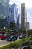 De straten van Singapore Royalty-vrije Stock Afbeeldingen
