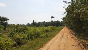 De straten van Srilankas dichtbij Kalpitiya royalty-vrije stock fotografie