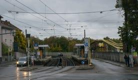 De straten van Stuttgart in regenachtig oktober royalty-vrije stock fotografie