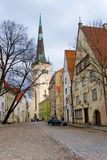 De straten van Tallinn Stock Foto's