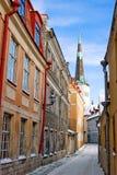 De straten van Tallinn Stock Afbeelding