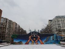 De straten van Toronto in de winter royalty-vrije stock foto