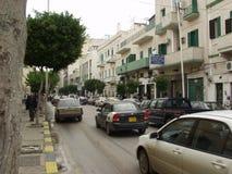 De straten van Tripoli Stock Foto's