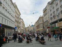 De Straten van Wenen Stock Afbeeldingen