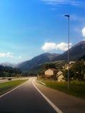 De straten van Zwitserland royalty-vrije stock fotografie