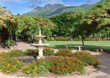 De streek Le Domaine Les Pailles van het park. Mauritius stock fotografie