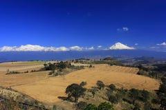 De streek van vulkanen Stock Afbeelding