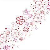 De streep van bloemen. Vector. royalty-vrije illustratie