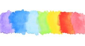 De streep van de de waterverfverf van de regenboog Stock Afbeeldingen