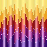 De streep-Zonsondergang van de Grafiek Kleuren Stock Foto
