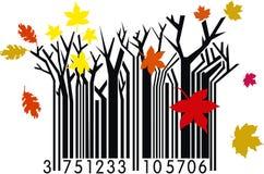De Streepjescode van de herfst Stock Foto