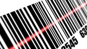 De streepjescode van het scanneraftasten Stock Fotografie